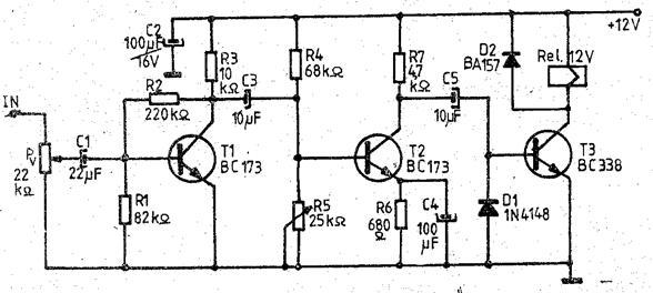 Schema electronica a comenzii vocale si funtionareaacesteia