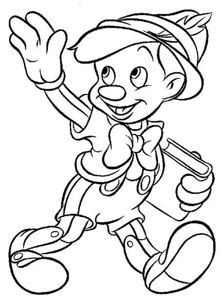 Planse de colorat cu Pinochio
