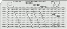 IBM 80-column punched card format