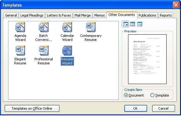 Resume Wizard Download Microsoft