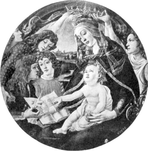 FIG. 27.�BOTTICELLI. CORONATION OF MADONNA. UFFIZI.