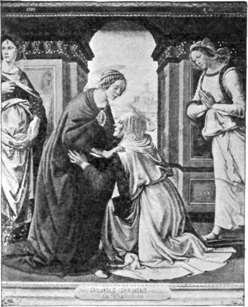 FIG. 28.�GHIRLANDAJO. THE VISITATION. LOUVRE.