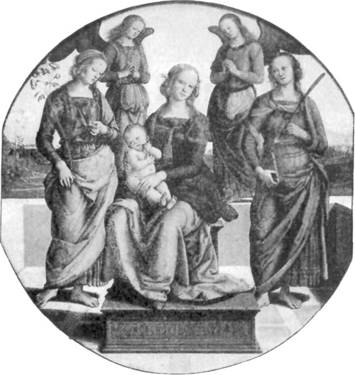FIG. 31.�PERUGINO. MADONNA, SAINTS, AND ANGELS.