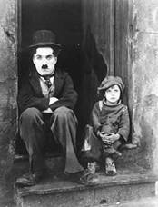 Chaplin and Jackie Coogan in The Kid (1921)