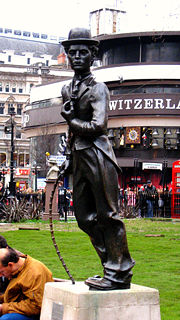 Statue of Chaplin in Leicester Square, London.