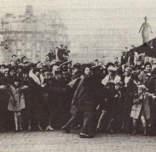 upon Charlot's arrival in Paris, 1921