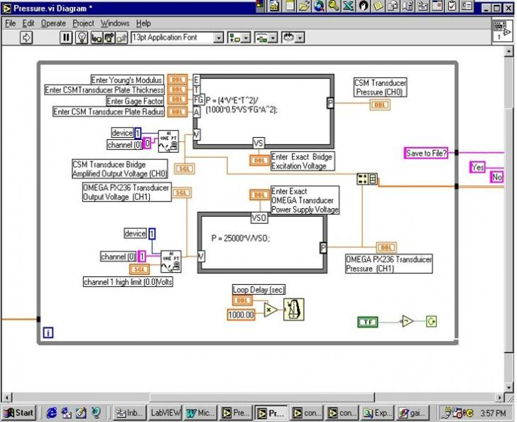 Data Acquisition With Labview In The Multidisiplinary